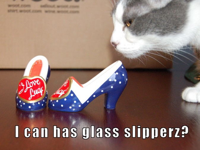 I can haz glass slipperz?