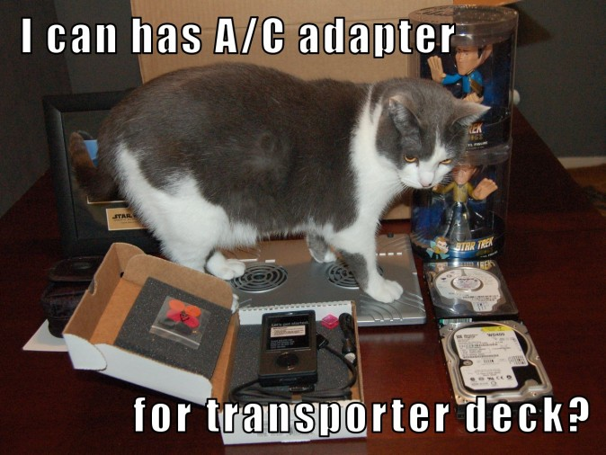 I can has A/C adapter for transporter deck?